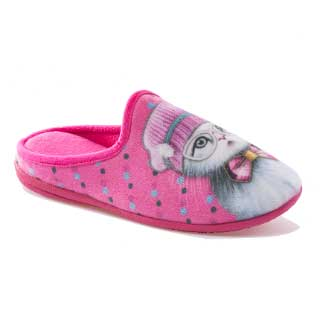 ISL Shoes Damtofflor Cat, rosa