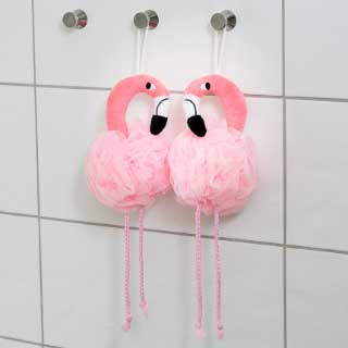 "Badsvampar ""Flamingo"" 2-pack"