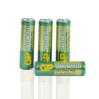 Greencell batterier R6 AA, 4-pack