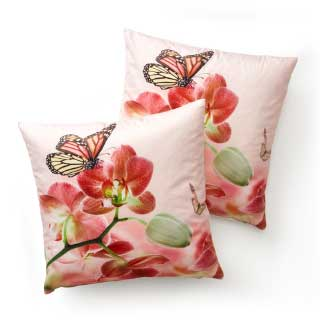 "Mira design Kuddfodral ""Butterfly"", 2-pack"