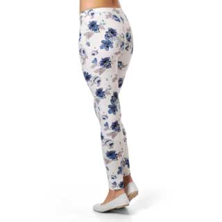 Select Woman Tights Soft, vita m blommor
