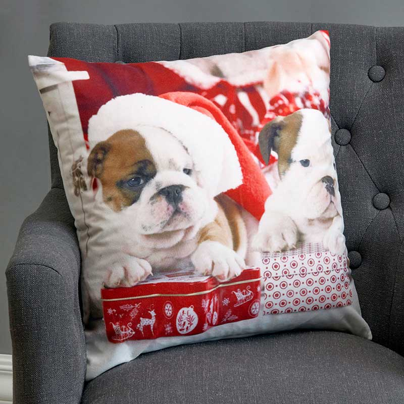 Kuddfodral Christmas dogs